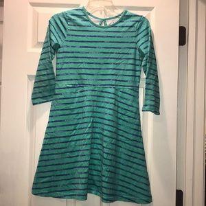 ⭐️ LL Bean Girls Striped Unshrinkable Dress